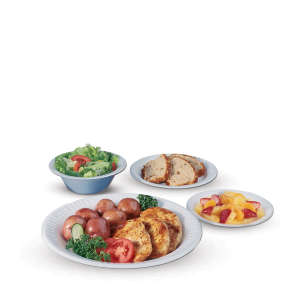 Quiet Classic® Laminated Foam Dinnerware