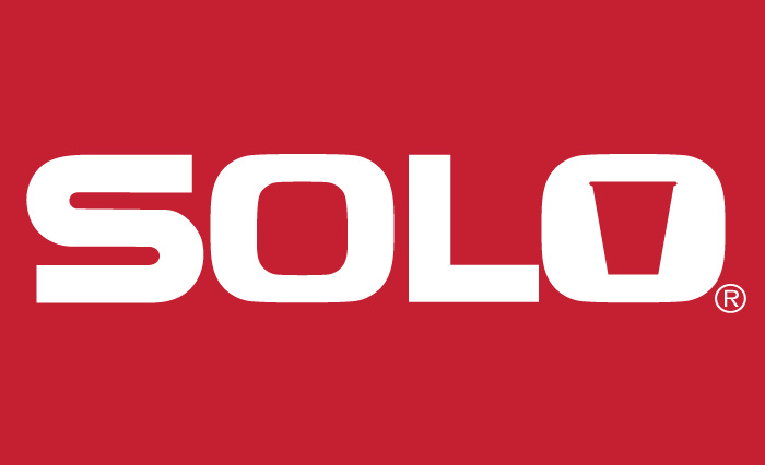 Solo logo on red background
