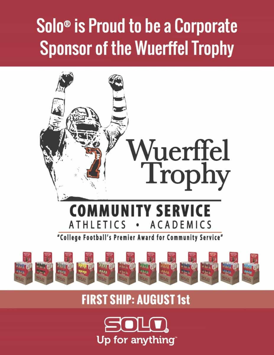 Solo Wuerffel Trophy Sell Sheet