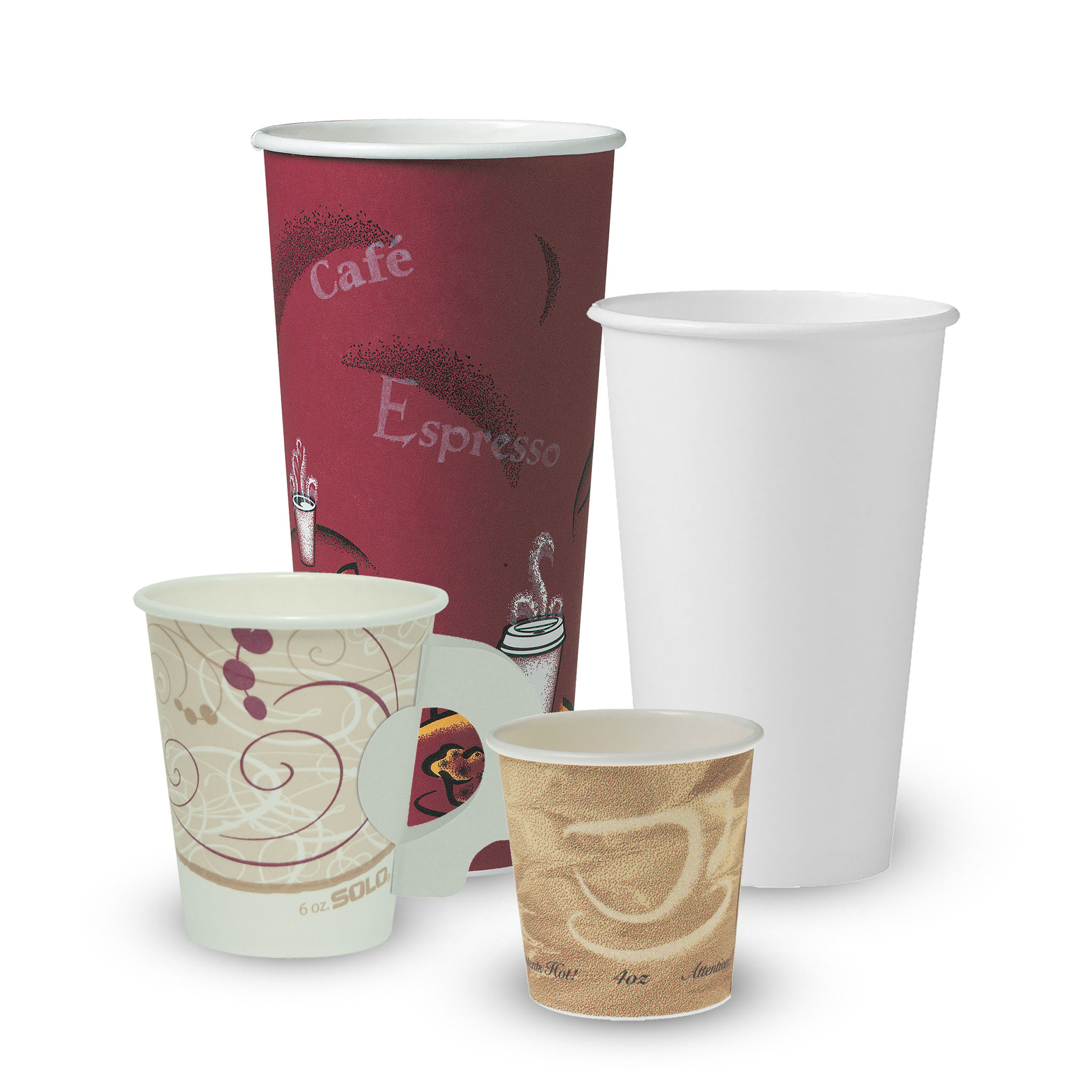 Solo® Single Sided Poly Paper Hot Cups | US